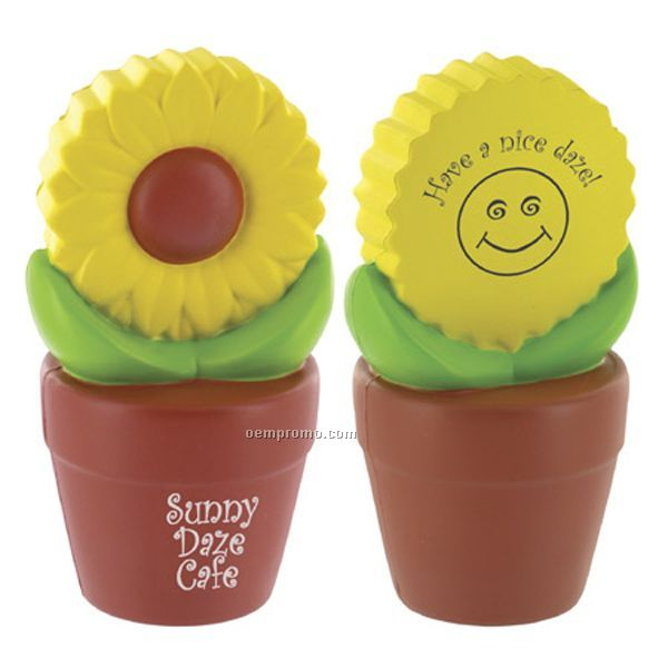 Sunflower In Pot Squeeze Toy