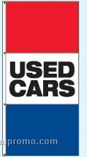 Double Face Stock Message Free Flying Drape Flags - Used Cars