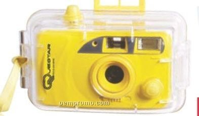 Motorized Underwater 35mm Camera With Flash