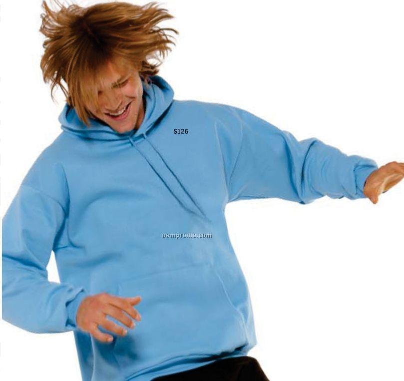 White Champion Adult 50/50 Pullover Hooded Sweatshirt