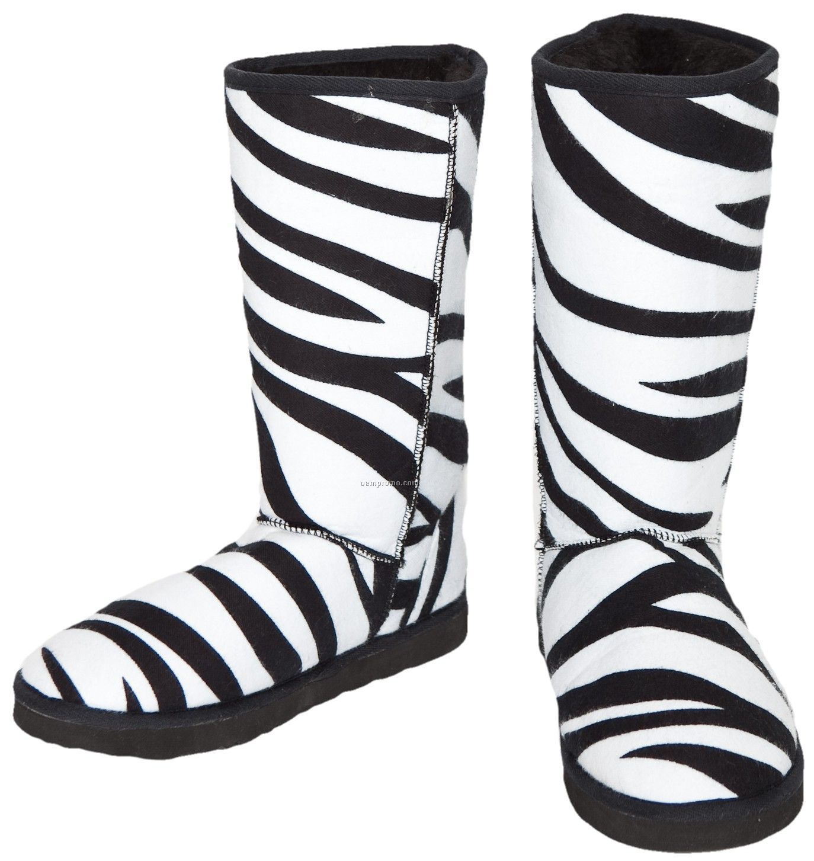 Zebra Print Walk About Boot