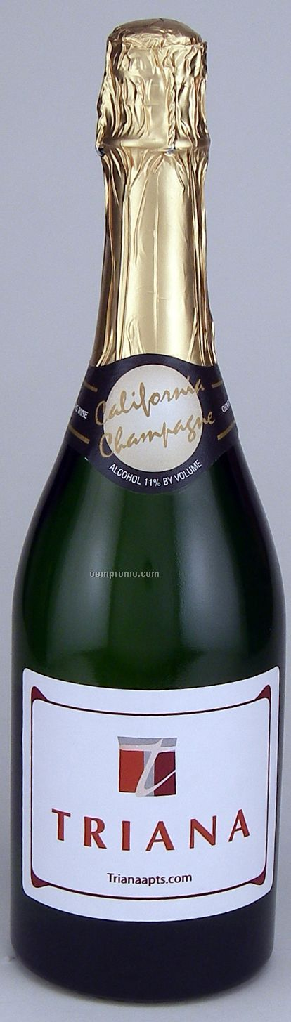 750ml Standard California Champagne (Sparkling Wine) With Label