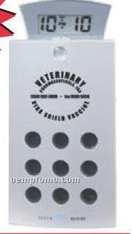 Aluminum FM Scan Radio With Sliding Alarm Clock