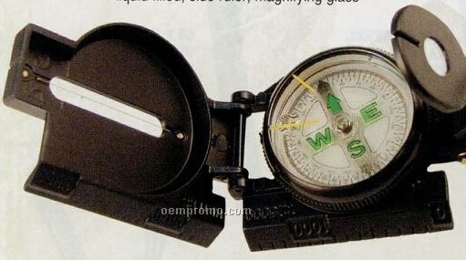 Black Military Tactical Compass With Magnifying Glass
