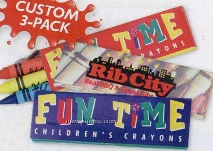 Custom 3 Pack Premium Quality Crayons