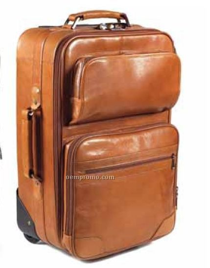 "First Class 21"" Rolling Suitcase - Tuscan Leather"