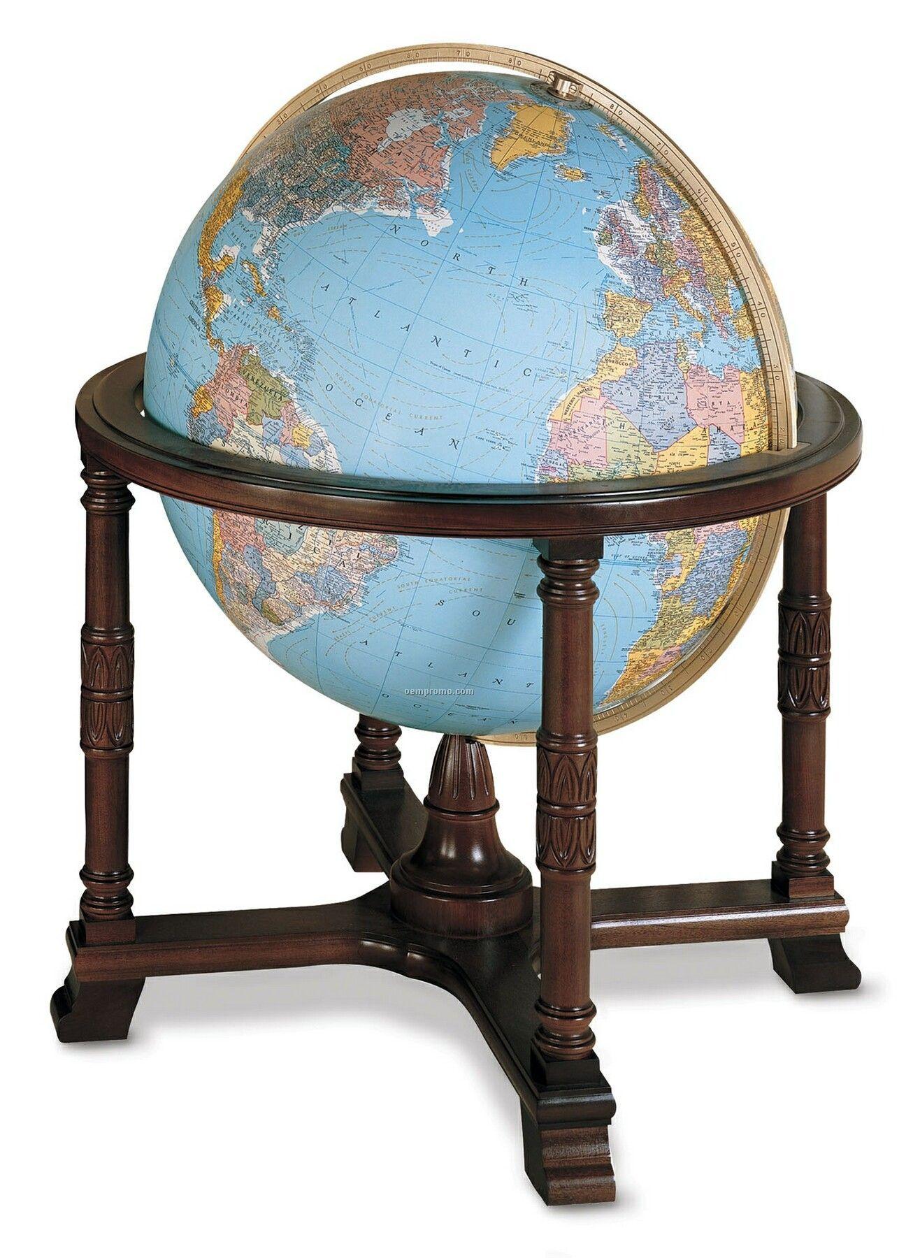 Illuminated Diplomat Blue Ocean Globe