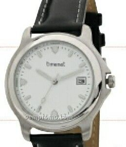 Legend Men's Roman Numeral Dial Watch With 2-tone Case