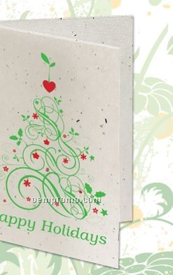 Seeded Paper Holiday Card - Happy Holidays