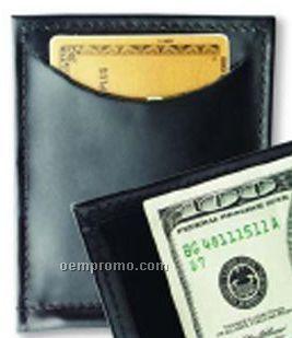 Single Money Clip W/ Outside Pockets - Regency Cowhide Leather
