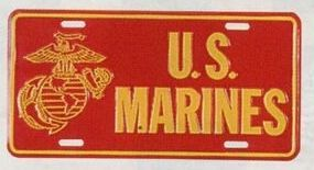 Us Marines Military License Plate