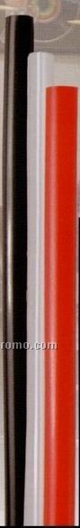 """8"""" Bagged Jumbo Straw (Clear / Black Or Red)"""