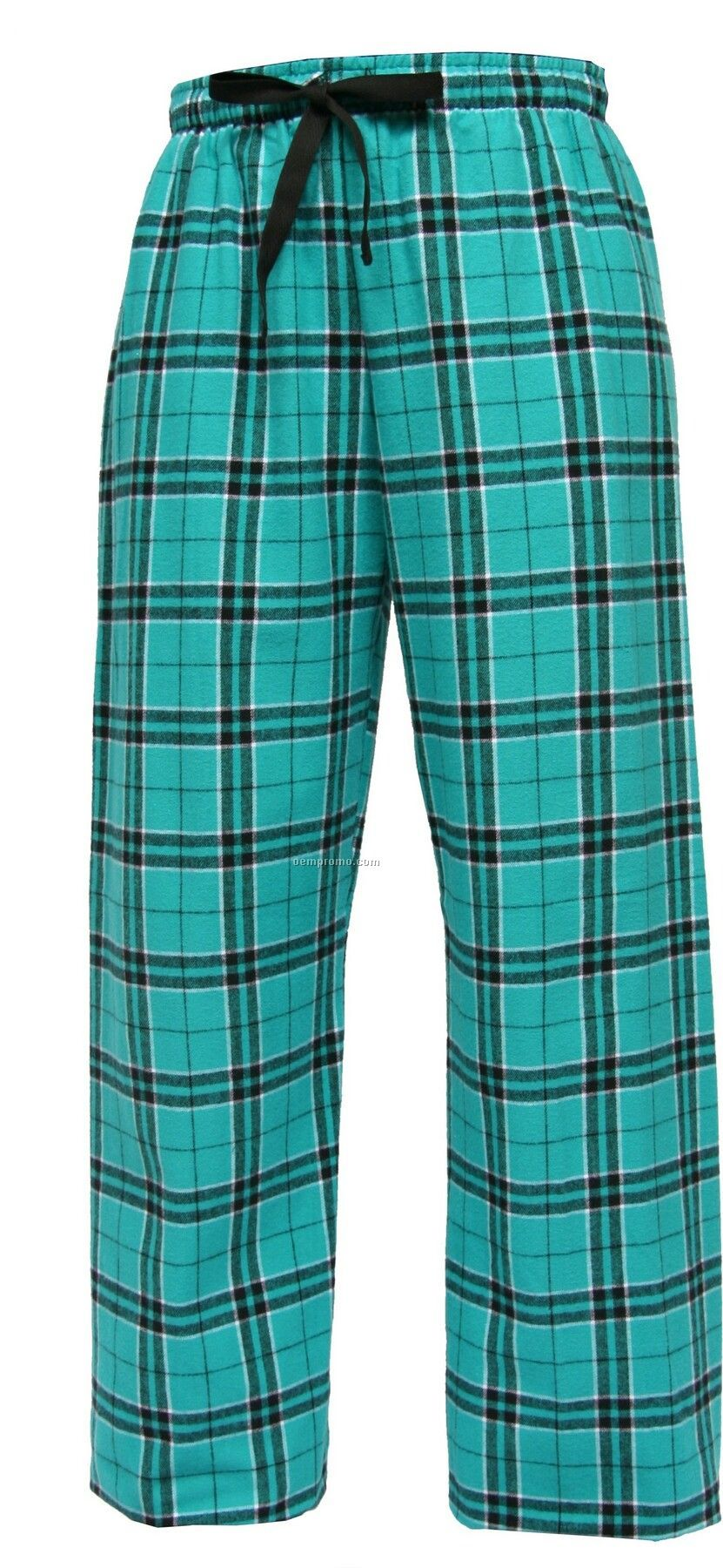 Adult Team Pride Flannel Pant In Teal Green & Black Plaid