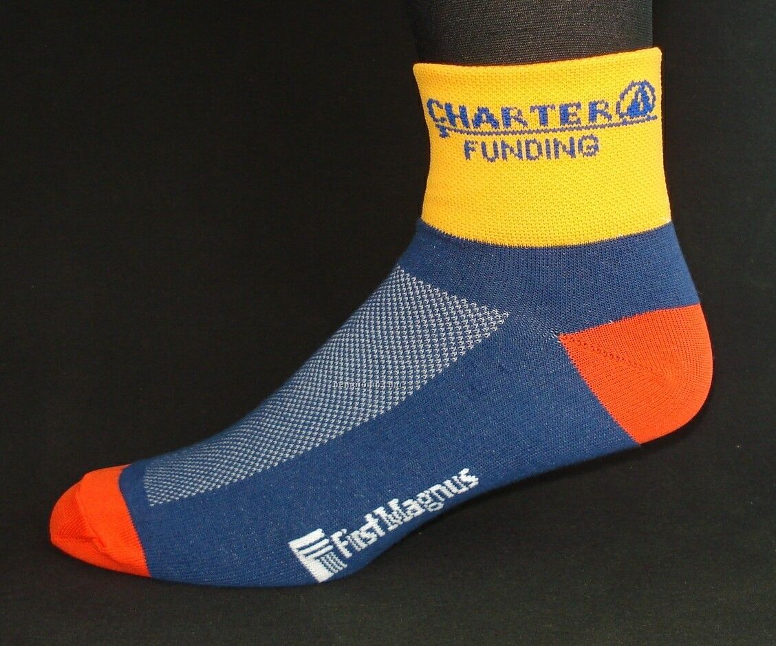 Custom Cool Max Woven Hybrid Cycling Sock