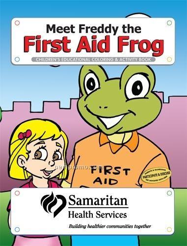 Fun Pack Coloring Book W/ Crayons - Meet Freddy The First Aid Frog (Tall)
