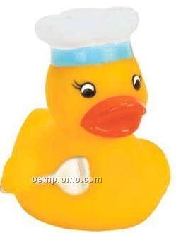 Mini Rubber Chef Duck