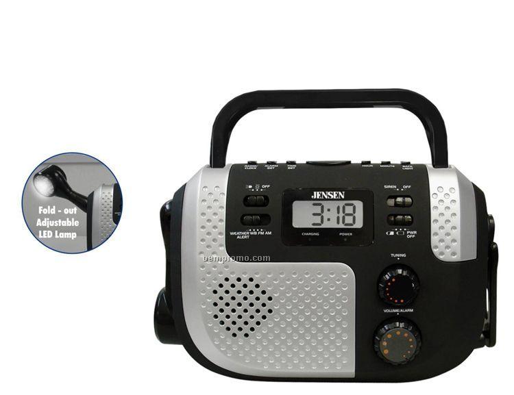Portable Self Powered AM/FM Weather Band Radio W/ Flashlight