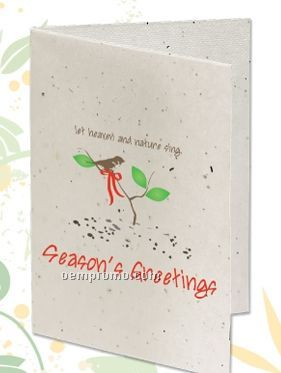 Seeded Paper Holiday Card - Let Heaven And Nature Sing