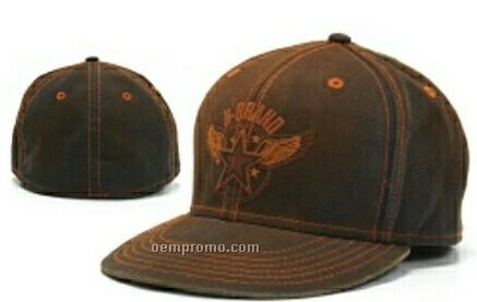 Stock Flat Bill Cap With Contrast Stitching
