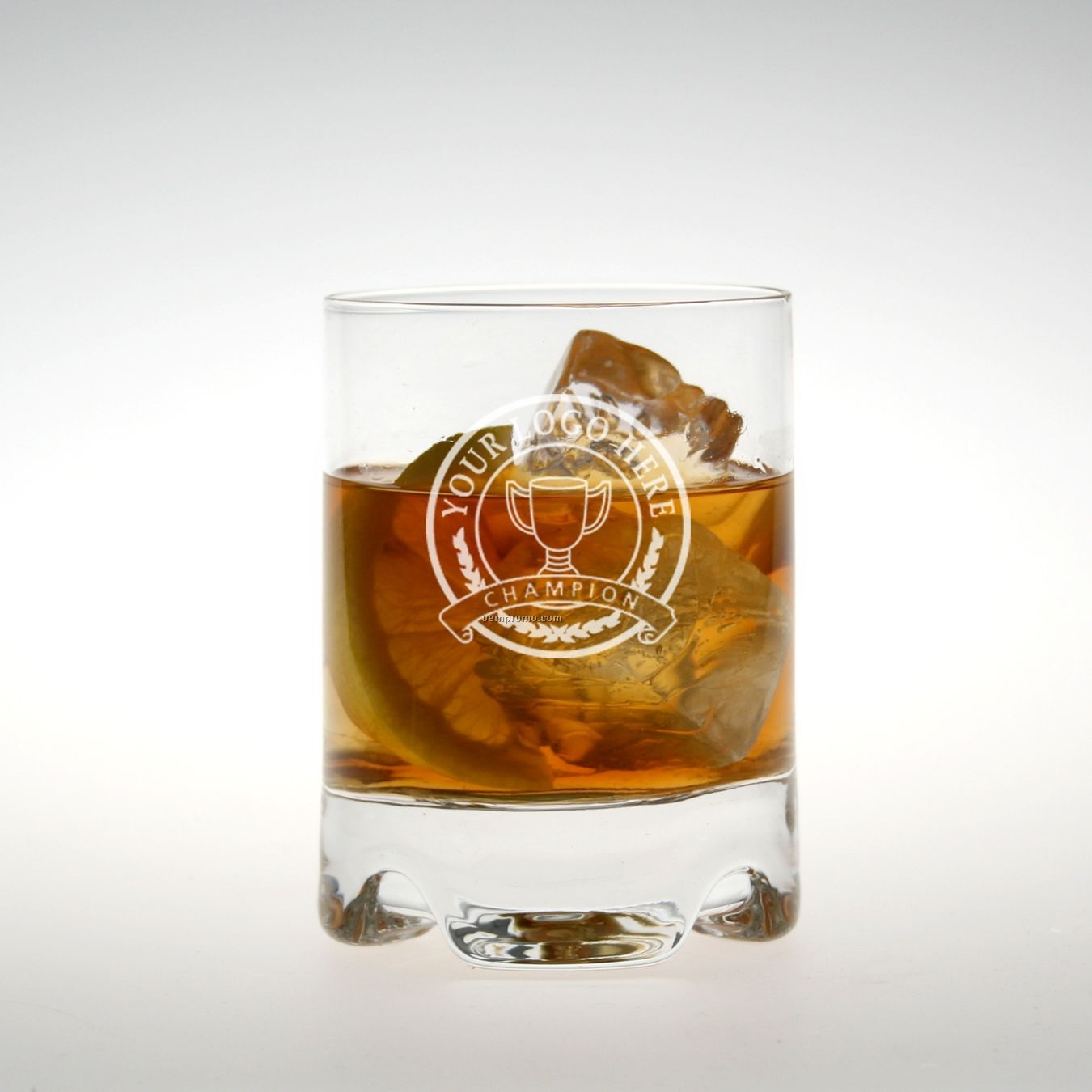 10 Oz. Bristol Double Old Fashioned Glass (Deep Etch)