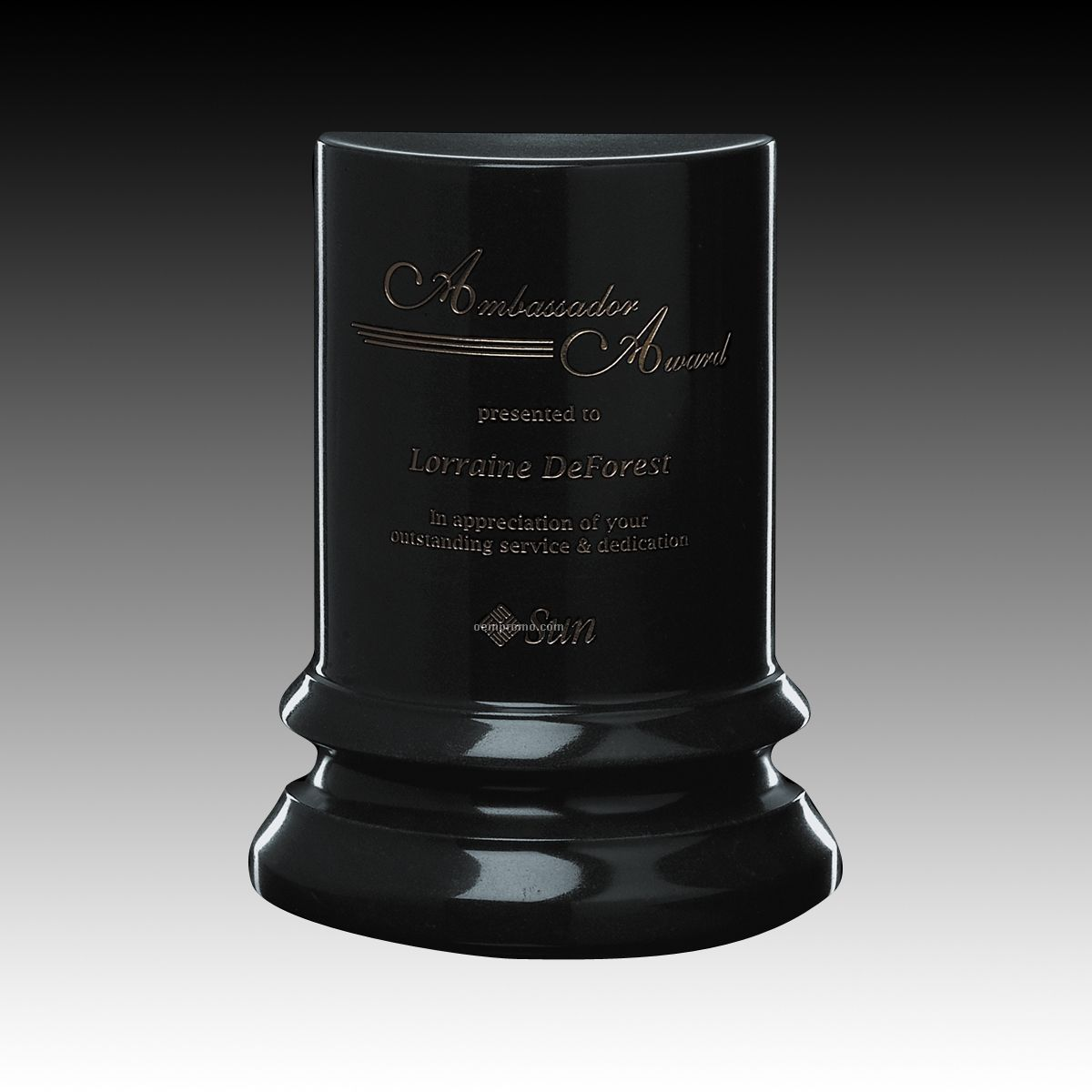 Black Genuine Marble Triumph Award