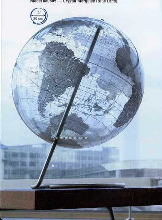 Crystal Marquise Silver Land Globe