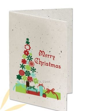 Seeded Paper Holiday Card - Merry Christmas