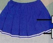 Adult Solid Knife Pleated Skirt W/ Elastic Waistband (S-xl)