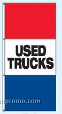 Double Face Stock Message Free Flying Drape Flags - Used Trucks