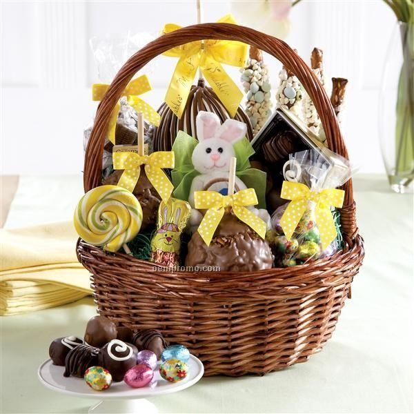 Baskets giftfoodchina wholesale baskets giftfood page 36 grand easter basket 3 apples caramelchocolate bunny 125x12 negle Choice Image