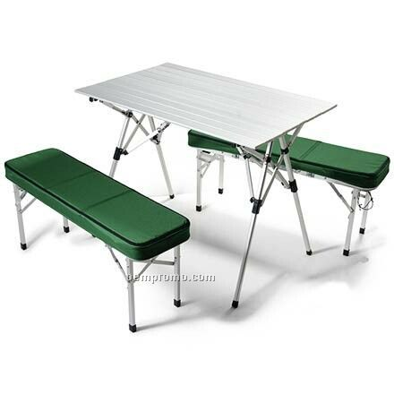 Outdoor Bench Table Set