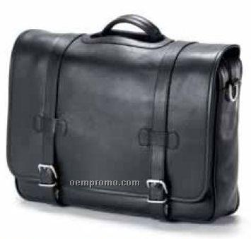 Porthole Flap Briefcase - Bridle Leather