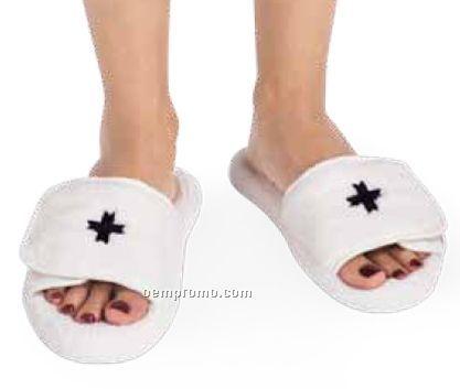 White Velura Slippers (S-m)