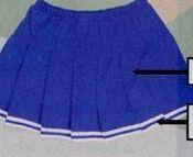Adult Solid Knife Pleated Skirt W/ Elastic Waistband (Xxl)