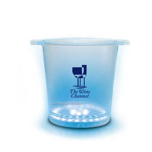 Clear Frosted Bucket With Your Choice Of Blue Or Color Changing Leds