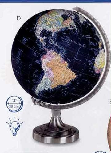 Orion Illuminated Black Ocean Globe