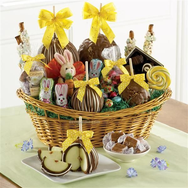 Baskets giftfoodchina wholesale baskets giftfood page 36 premium easter basket 4 apples chocolate bunnyhoppy bunny 14x10 negle Choice Image