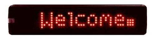 """17"""" Red Programmable LED Sign"""