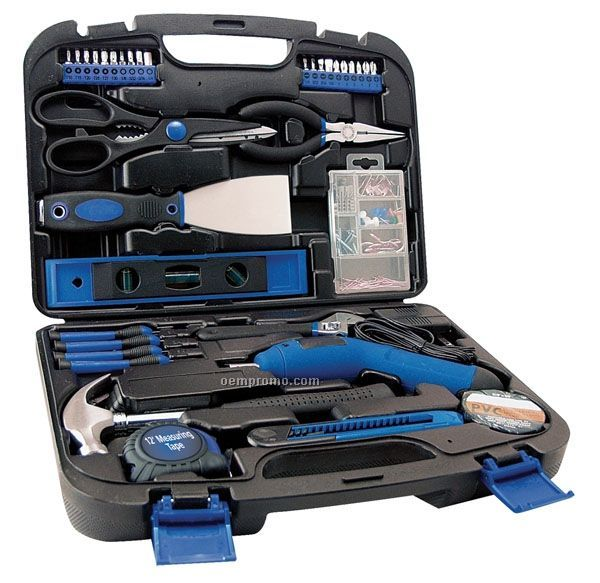 35 Piece Home Tool Set W/ Rechargeable Cordless Driver
