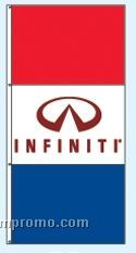 Double Face Dealer Free Flying Drape Flags - Infiniti