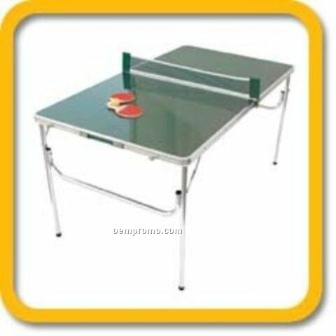 Portable Game Table With Ping Pong Accessories