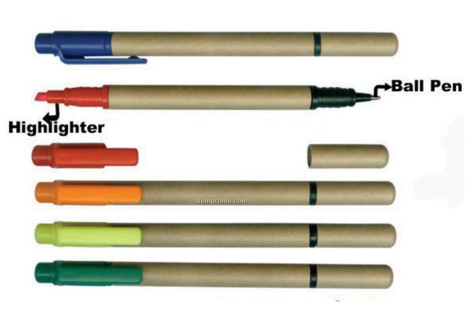 The Eco Combo Pen And Highlighter