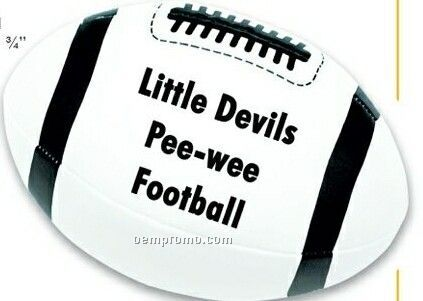 White Football Plush Sport Balls (Printed)