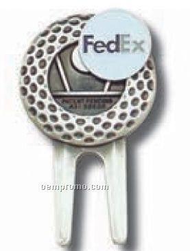 Golf Ball Divot Tool W/ Ball Marker