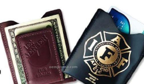 Magnetic Money Clip/Credit Card Case - Regency Cowhide Leather