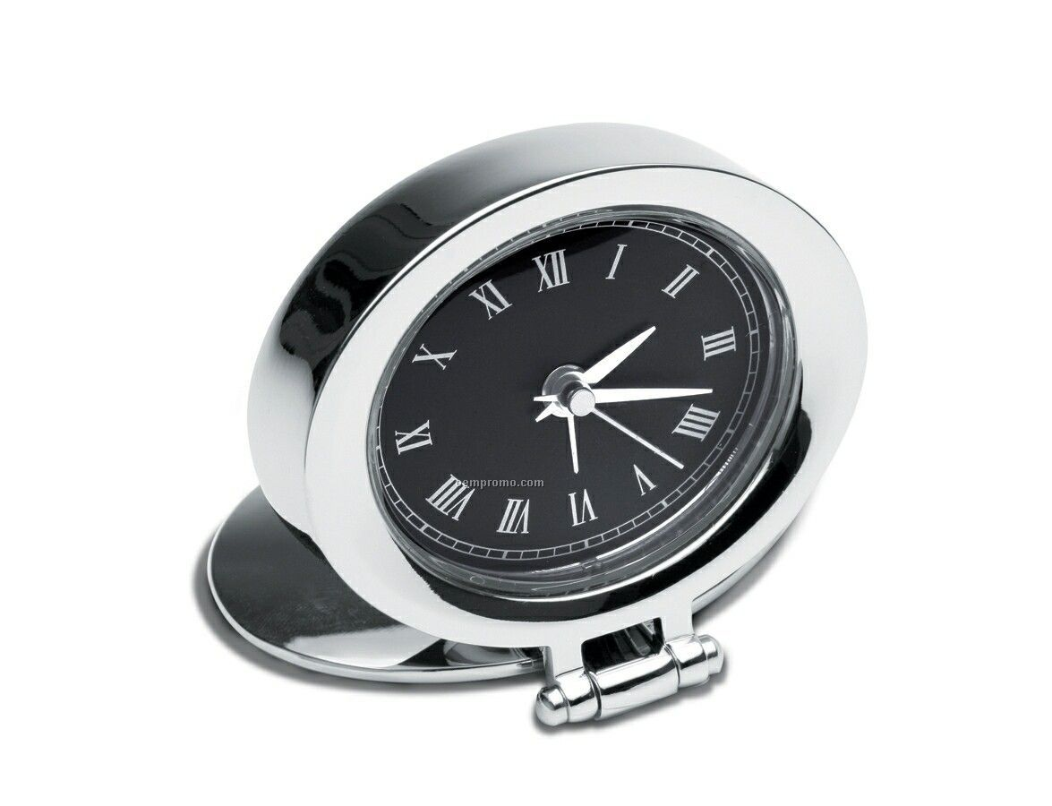 Penthouse Oval Travel Clock