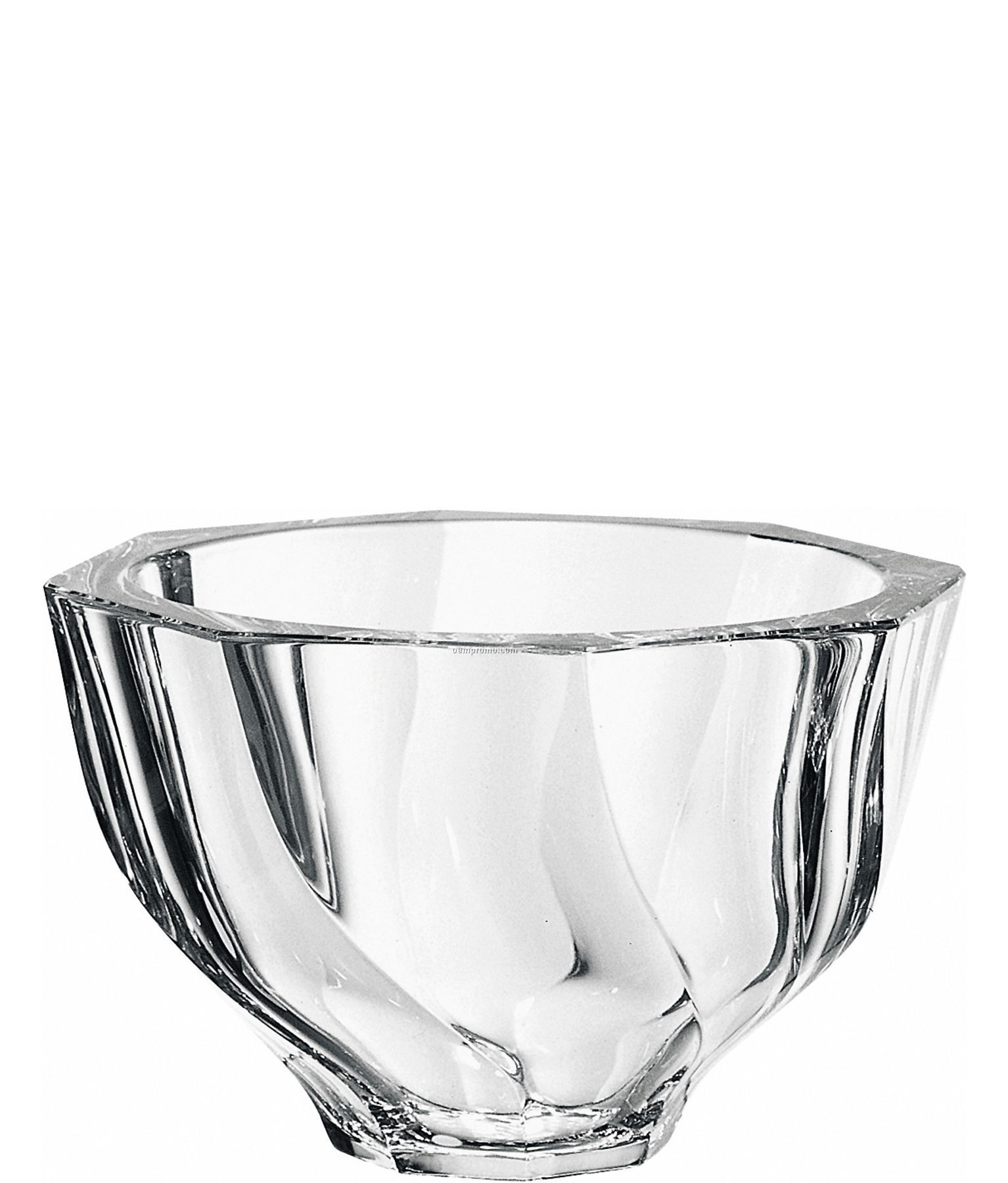 "Residence Crystal Biased Cut Bowl By Olle Alberius (4 3/4""X7 1/2"")"