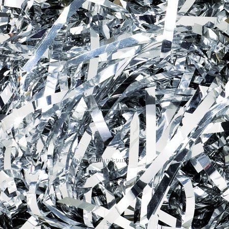 Silver 40 Lb. Carton Metallic Colored Tissue Paper Shreds