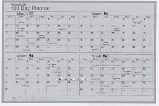 120 Day Planning Board Kit (36