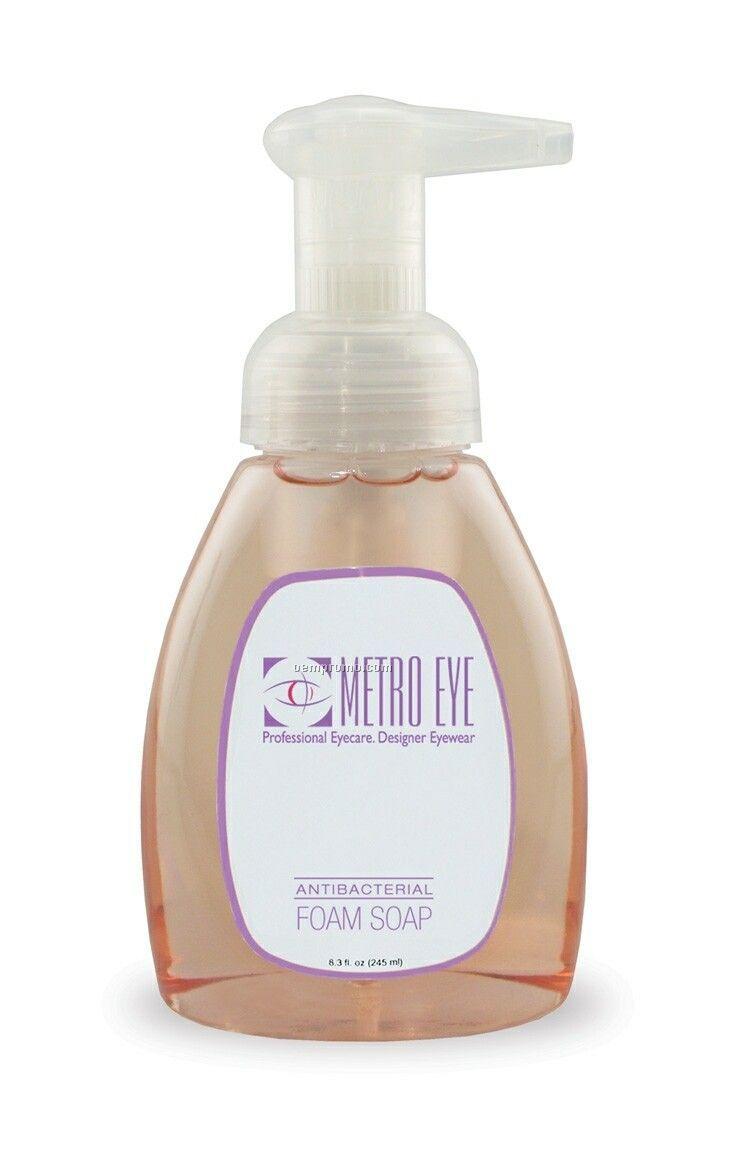 8.3 Oz. Clear Antibacterial Foam Soap Pump Bottle